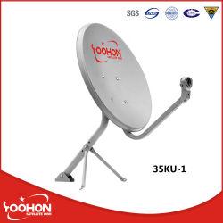 Banda Ku 35cm plato al aire libre pequeña antena TV antena parabólica