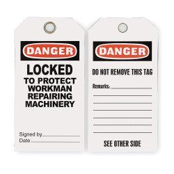 Прочного ПВХ табличка Опасно для обеспечения безопасности (2RMW8)
