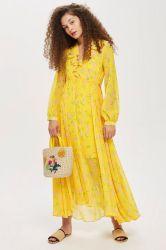 Personalizada para imprimir sus propios diseños florales Maxi vestidos de seda