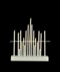 Kunststoff-Kerze Brücke Bogen Glühbirnen Weihnachtsfenster Innendekoration
