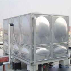 Contenedor de agua de acero inoxidable de la planta de tratamiento de agua de plástico reforzado con fibra