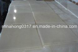 純粋で白い大理石の平板かタイル、/Compositeのタイルまたは虚栄心の上またはカウンタートップ