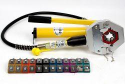 Igeeleeのホースのひだ付け装置キットAG7842b修理エアコンは車修理Withpumpのための油圧ホースの圧着工具を配管する