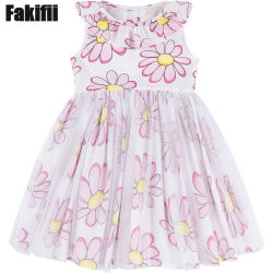 2019 L'été/Spring Fashion Enfants de gros de vêtements Vêtement pour bébé robe anniversaire fille fleur