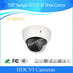 5 МП Dahua сумеречного света звезд Hdcvi IR безопасности водонепроницаемый купольной камерой (HAC-HDBW2501E)
