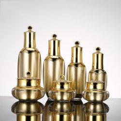 Corona de Oro de lujo de envases Cosméticos Cosméticos Botella de plástico Jar (PPC-NUEVO-004)
