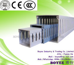 No Trunking de PVC ranurado de cableado eléctrico de conductos de cable
