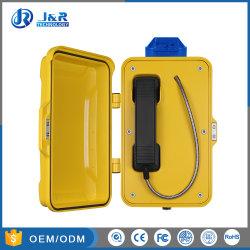 Heavy Duty téléphone avec voyant LED, extérieur téléphones d'urgence, tunnel étanche IP67 SIP Téléphone