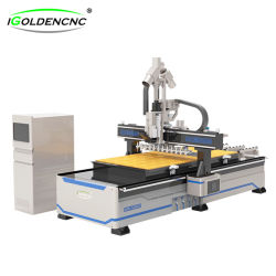 Personalizar 1325 2030 Atc Máquina CNC Router Madeira Cortador de madeira ferramenta automática Alterar máquinas CNC para portas de madeira