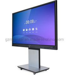 """LCD 4K UHD num só infravermelhos de 65"""" ~ 100"""" Quadro branco eletrónico multitoque interativo com ecrã tátil e microfone da câmara Para ensino em conferência e sala de aula"""