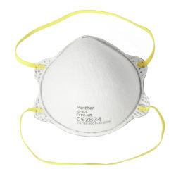 Beschermend deeltjefilter half Masker FFP2 in de vorm van een kopvorm