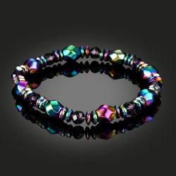 多彩で黒い磁石のギフトのブレスレットの方法宝石類