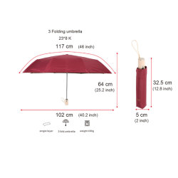 Dobragem UV Umbrella, Vinho Tinto caixa Abrir e fechar a publicidade Umbrella Umbrella Promoção Dom Umbrella Umbrella