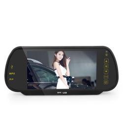 Ecran couleur LCD TFT 7 pouces voiture moniteur Rétroviseur auto Stationnement des véhicules de rétroviseur de marche arrière Support de moniteur de sauvegarde SD / USB