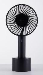 De pé de mesa de plástico do ventilador do arrefecedor de pilhas recarregáveis portátil USB Mini Fan