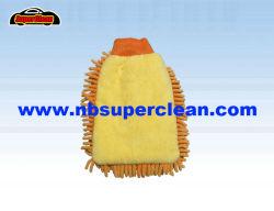 Super Guante de chenilla microfibra absorbentes para el coche lavado y pulido (nc1407)