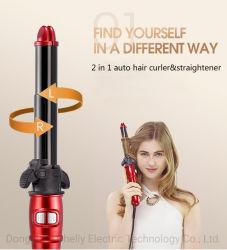 Banheira de vender 2 em 1 PTC Rotação Digital Hair Modelador Auto modelador de cabelo