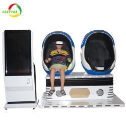 La experiencia de Realidad Virtual 2 asientos huevo 9D de carreras de Vr Simulador de disparo de vídeo de entretenimiento electrónico de la máquina Arcade