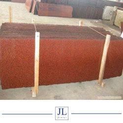 Los bajos precios pulido teñido de rojo/negro mosaico de granito para losa//Escaleras/Bandas/Encimeras