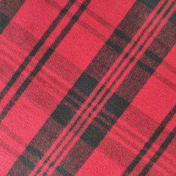 98% ALGODÃO 2% Span de fios tecidos de cores preto vermelho tecido tingidos