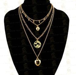 Moderne einfache klassische Art-Dame-Legierungs-Liebes-Inner-Raupe-hängende mehrschichtige Halskette