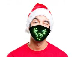Masque de Noël coloré LED clignotant