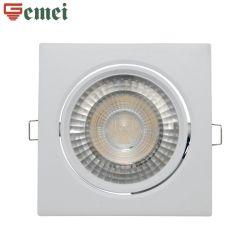 Économie d'énergie plafond lampe LED Downlight Spotlight réglable 8W de l'éclairage lumière carré RoHS Ce