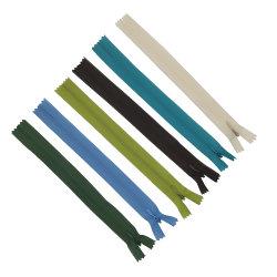 3#/cinta de encaje de Cinta de tejido de nylon con cremallera invisible con Lágrima Extractor para faldas vestido