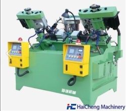 압축 공기를 넣은 자동 수직 CNC 견과 꼭지 기계 표준 비표준 잠그개 관을%s 자동적인 2대의 스핀들 hex와 플랜지 견과 두드린 및 드릴링 기계