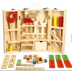 Творческие DIY деревянные портативный многофункциональный набор инструментов моделирования дети головоломки играть дома разборки игрушки