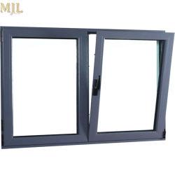 Perfil de aluminio de inclinación de vidrio templado se abren para la casa de la ventana