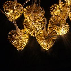 Arbre de Noël Décoration forme de coeur chaîne décoratifs Éclairage à LED