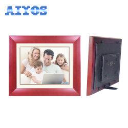 """HD 10"""" en bois lecteur audio/vidéo numérique Affichage LCD avec auto sur Désactivé"""