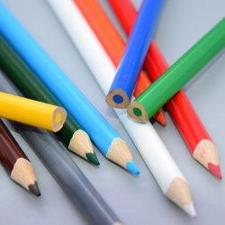 La escuela& Oficina Lápiz Jumbo de alta calidad media de 8,2 mm de 7 pulgadas de madera de tilo lápices de colores con 3,3 mm de plomo con el logotipo del cliente