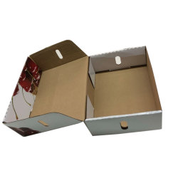 Embalagem de cartão canelado branco frutos cereja caixa de embalagem