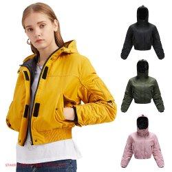 Venda por grosso de qualidade elevada da moda casual casacos quentes de Inverno Sherpa Forrada Zip up blusa capuz casaco exterior cubra