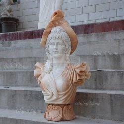 En el interior talladas a mano hermosa niña busto de mármol