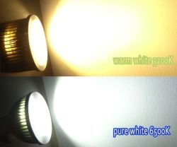 220V Dimmable 5W LED COB/LEDの点ライトLED GU10球根