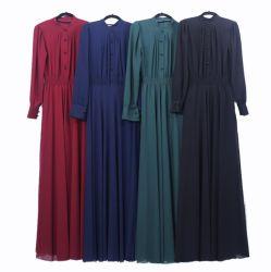 Women's lâche fermeture bouton surdimensionnée Maxi robe extra longue avec le bouton brassard