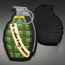 Pignon de l'Armée personnalisée en usine Grenade tactique Logo Correctifs de la police d'accessoires du vêtement Vêtements caoutchouc PVC Patch d'étiquette en Chine
