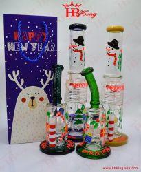 Rokende Pijp van het Glas van de Waterpijp van het Glas van de Installatie van de Kunst van het Glas van de Pijp van het Glas van de Stijl van Kerstmis van de fabriek de Kleine