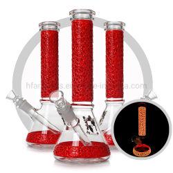 Narghilé di fumo di vetro del tubo di acqua di notte della coppa rossa cinese di Lumious