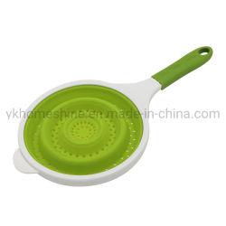 Silicona plegable colador colador de silicona de cocina