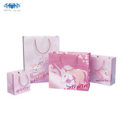 Clothes Apparel/Gift를 위한 재생된 Ladies Carrier Kraft Paper Gift Bag Shopping Bag
