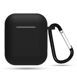 에어포드 1 케이스 커버 충격 방지 실리콘 스킨에 대한 완벽한 보호 기능 키체인 포함