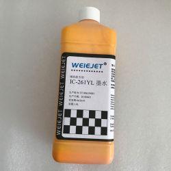 Inchiostro da stampa a base d'acqua dell'inchiostro IC-261yl di colore giallo dell'inchiostro della tintura dell'inchiostro per la stampante di getto di inchiostro continua