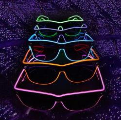 Festa de Natal EL Luminescência óculos de LED piscando