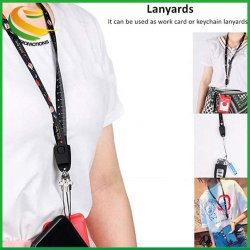 Snelladen Usb Micro Cable Lanyards Sublimation Id Card Holder Lanyard