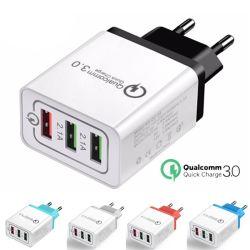 chargeur USB QC3.0 1&3 ports USB 3.1 a la charge rapide de chargeur pour Samsung Galaxy de l'iPhone