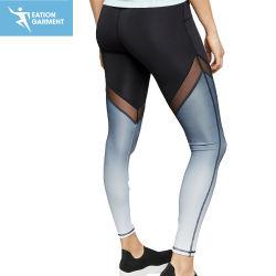 Black Ombre formação desportiva Perneiras Senhoras Slim Fit Ginásio Fitness brilhante collants